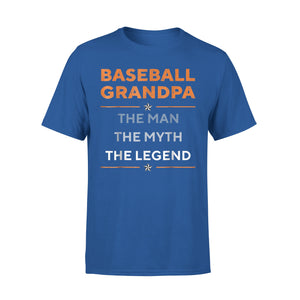Baseball Grandpa The Man The Myth The Legend Funny T-Shirt