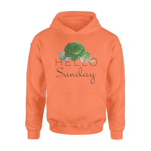 Hello Sunday Flower Seven-Day Of The Week Hoodie