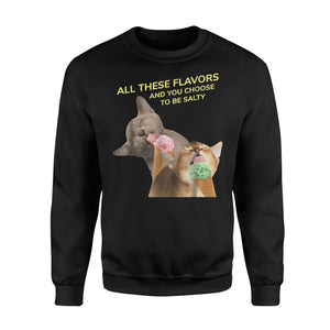 All These Flavors Funny Cats With Ice Cream Kids Sweatshirt