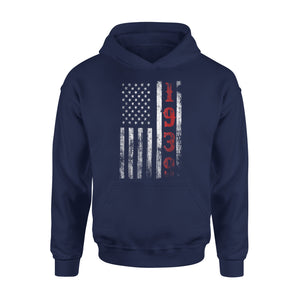 79th Birthday - 1939 Vintage American Flag Gift Premium Hoodie
