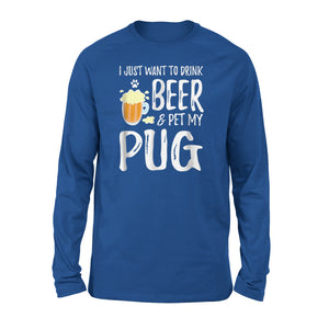 Beer And Pug Long Sleeve T-Shirt