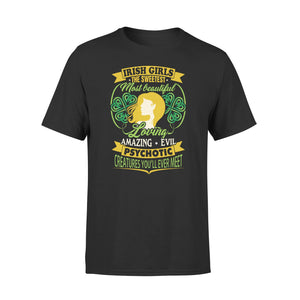 Mens Cotton Crew Neck T-Shirt - Irish Girls 01