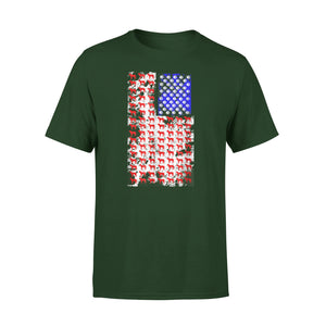 4Th July Shirt For Mastiff American Mom And Dad T-Shirt