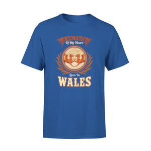 Mens Cotton Crew Neck T-Shirt - Lives In Wales 01