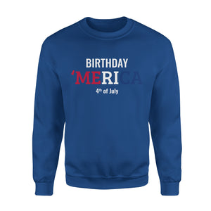 Men's Cotton Sweatshirt - Birthday America 4th Of July - United States Independence Day - MRA