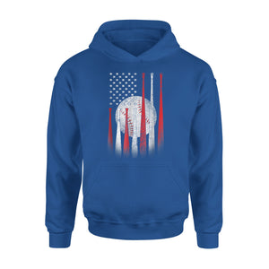 American Flag 4th Of July Shirt Baseball Softball Ball Gifts Premium Hoodie