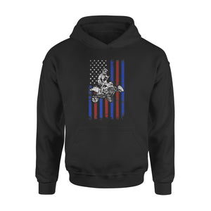 American Flag Cool ATV Four Wheeler Quad Bike Premium Hoodie