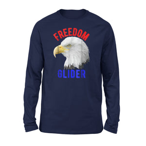 4th Of July Eagle Freedom Glider Independence Liberty Premium Long Sleeve T-Shirt