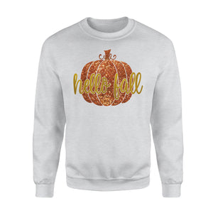 Hello Fall Pumpkin Spice Halloween Thanksgiving Pumpkin Sweatshirt