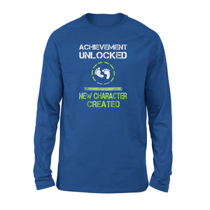 Achievement Unlocked New Character Created Long Sleeve T-Shirt