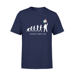 Mens Cotton Crew Neck T-Shirt - Evolution 01