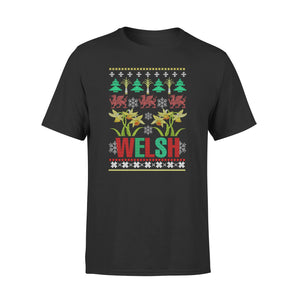 Mens Cotton Crew Neck T-Shirt - Wales Shirt 03
