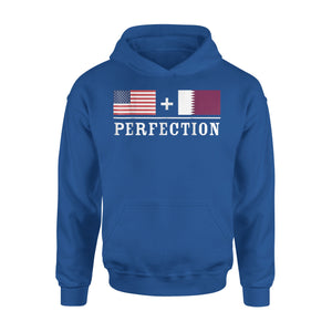 American + Qatar = Perfection Flag Premium Hoodie