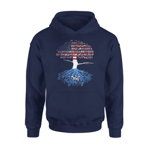 American Flag Heart Somali Roots Patriot USA Somalia Tee Premium Hoodie