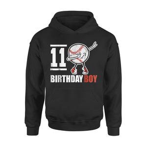 11 Year Old Birthday Dabbing Baseball Hoodie