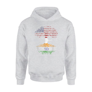American Heart Indian Roots Patriot Usa India Flag Tee Premium Hoodie