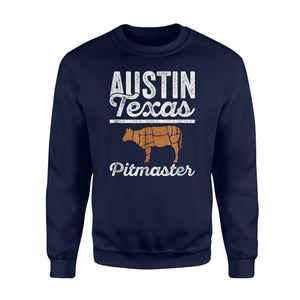 Austin Barbecue Pitmaster BBQ Dad For Father's Day Sweatshirt