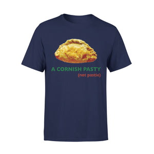 Mens Cotton Crew Neck T-Shirt - A Cornish Pasty 01