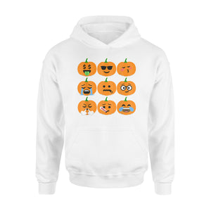 Pumpkin Emoji  Halloween Thanksgiving Pumpkin  Hoodie