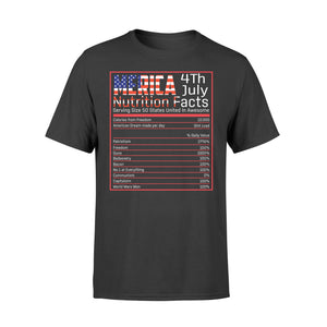 4th Of July Merica Nutrition Facts New Style Standard T-Shirt - DD