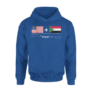 American + Sudanese = Me USA And Sudan Flags Premium Hoodie