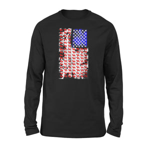 4Th July Shirt For Mastiff American Mom And Dad Long Sleeve T-Shirt