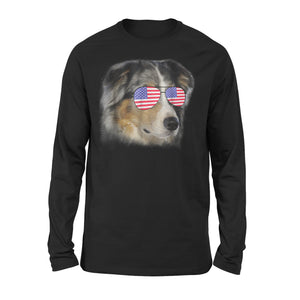 Australian Shepherd Independence Day Premium Long Sleeve T-Shirt