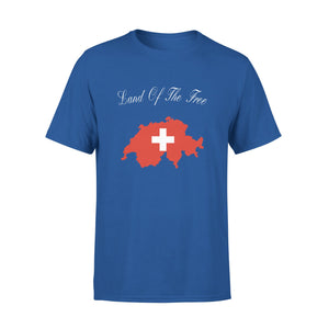 Mens Cotton Crew Neck T-Shirt - Land Of The Free 01