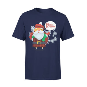 Mens Cotton Crew Neck T-Shirt - Christmas Shirt 01