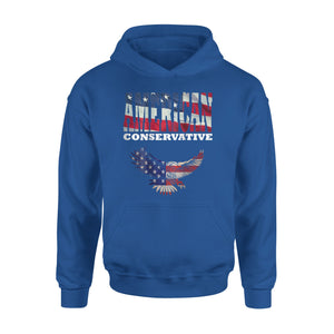Back Design Awesome American Flag Premium Hoodie