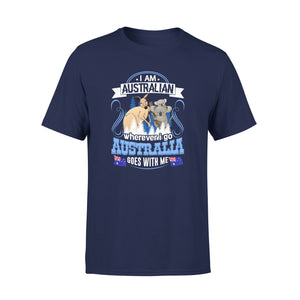 Mens Cotton Crew Neck T-Shirt - I Am Australian 02