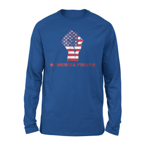 America First 4th July Independence Day Usa Pride Premium Long Sleeve T-Shirt