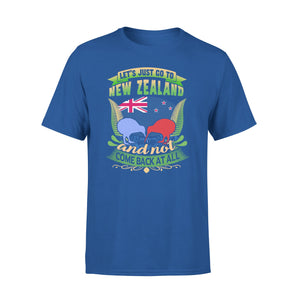 Mens Cotton Crew Neck T-Shirt - New Zealand Just Go 01