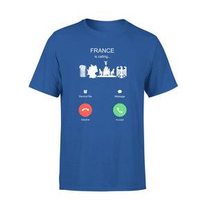 Mens Cotton Crew Neck T-Shirt - France Is Calling 01