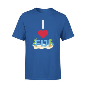 Mens Cotton Crew Neck T-Shirt - I Love Fiji 01