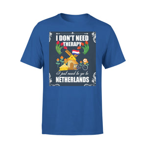 Mens Cotton Crew Neck T-Shirt - I Just Need To Go To Netherlands 01