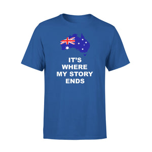 Mens Cotton Crew Neck T-Shirt - Australia Where My Story Ends 01