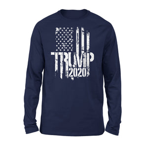 Awesome Trump 2020 White Distressed American Premium Long Sleeve T-Shirt