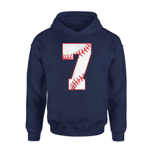 7th Baseball Lovers Number Birthday Party Kids Gift Hoodie