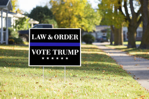 Vote Trump Yard Sign Law & Order #Election2020