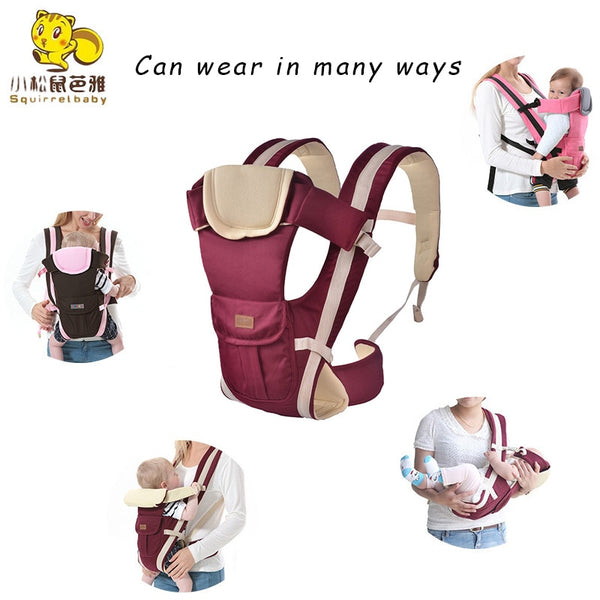 0-36 Months Baby Carrier Multifunctional Front Facing & Front Carry Comfortable Sling Backpack Pouch Wrap Infant Kangaroo Bag