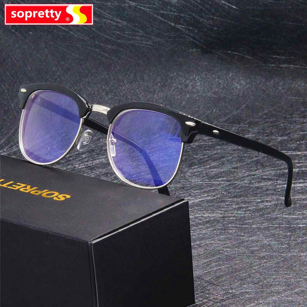 -1.0 -1.5 -2.0 -2.5 -3.0 -3.5 ~-5.0 Myopia Memory Optical Glasses Half Frame Finished Eyewear Men Women Shortsighted Eyeglasses