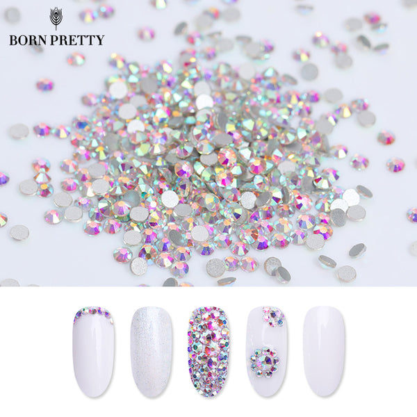 1 Bag Flat Back Rhinestone 3D Nail Decoration Colorful Multi-size Accessoires Manicure Nail Art Decoration
