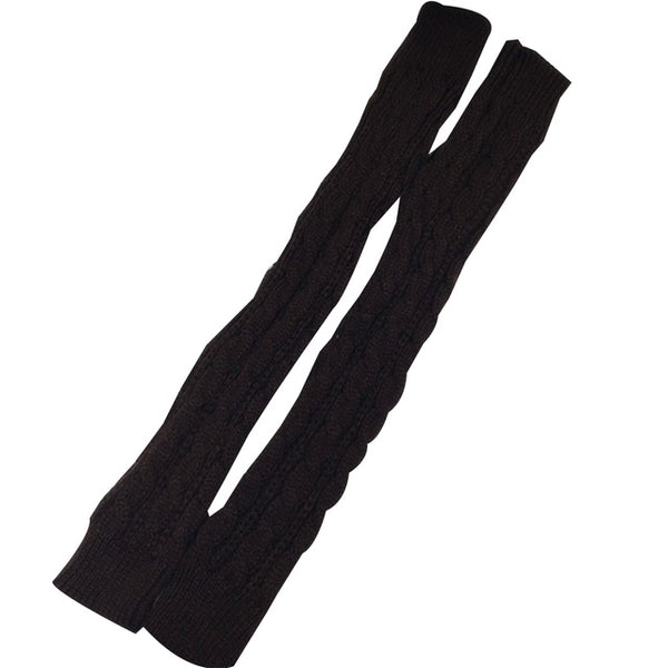 1 Pair Winter Women Girls Arm Gloves Long Half Knitted Arm Sleeves Riding Winter Mittens Sleeve