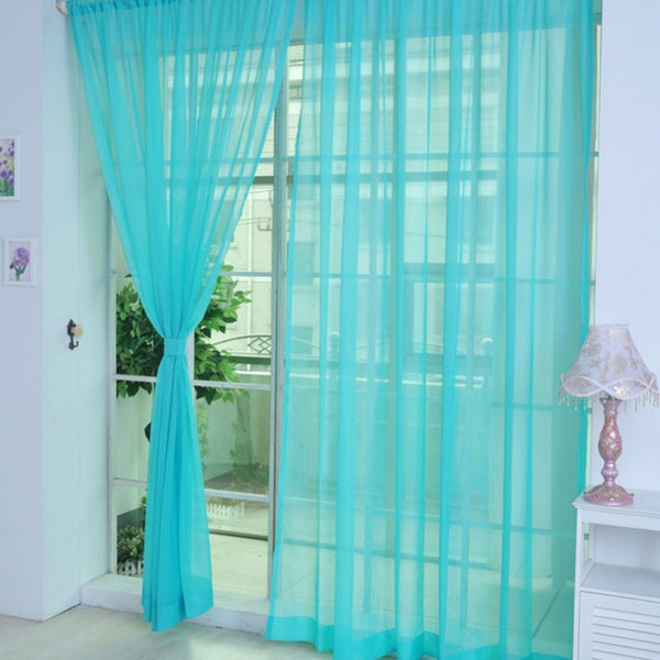 100 x 200cm Cheap Modern Window Curtain Home White Tulle Curtains for Living Room Bedroom Bathroom Polyester Window Screen