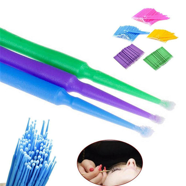 100PCS/Pack Disposable Makeup Brushes Swab Microbrushes Eyelash Extension Durable Micro Individual Applicators Mascara Brush