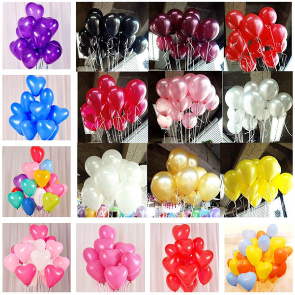 10pcs 10inch 2.2g Black Latex Balloons Helium Balloon Inflatable Wedding Decorations Kids Air Balls Happy Birthday Party Balloon