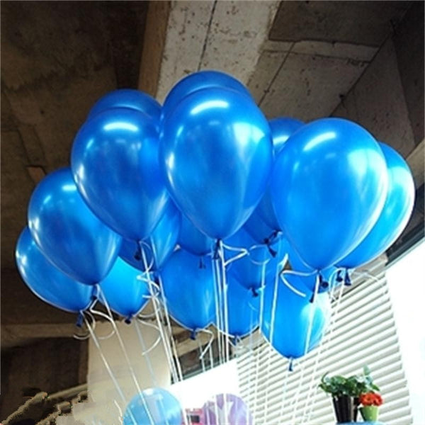 10pcs/lot Blue 10inch 1.5g Pearl Latex Balloon Air Balls Inflatable Wedding Balloons Children Birthday Party Decoration Balloons