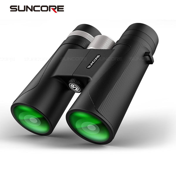 12x42 Binoculars High Power HD Telescope Metal Hand Wheel BK4 Prism Outdoor Hunting Bird Watching Camping 2019 Hot Selling