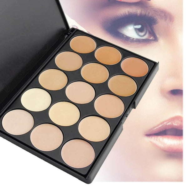 15 Colors Matte Contour Face Cream Concealer Contour Makeup Palette facial Powder Foundation Palette Makeup Set Cosmetic